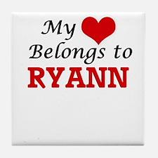 My heart belongs to Ryann Tile Coaster
