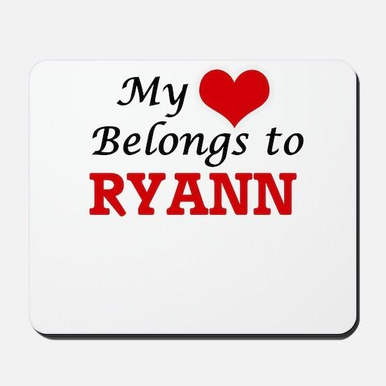 My heart belongs to Ryann Mousepad
