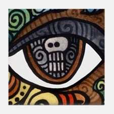 Skull Eye Tile Coaster