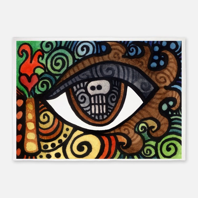 Skull Eye 5'x7'Area Rug