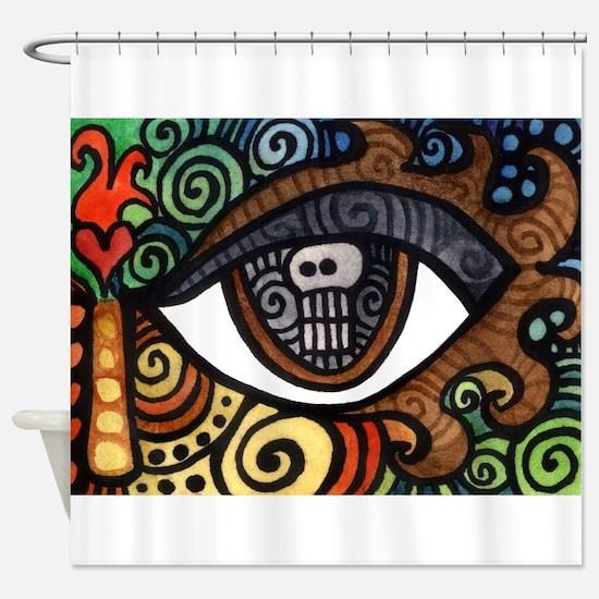 Skull Eye Shower Curtain