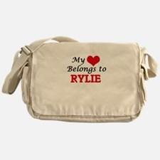 My heart belongs to Rylie Messenger Bag