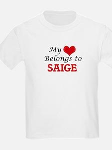 My heart belongs to Saige T-Shirt