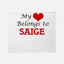 My heart belongs to Saige Throw Blanket