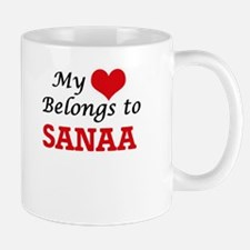 My heart belongs to Sanaa Mugs