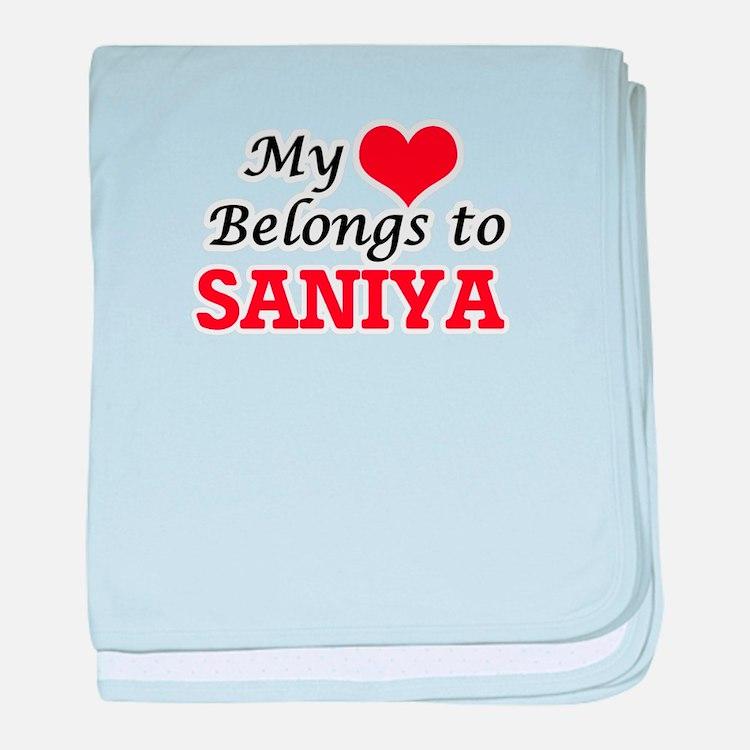 My heart belongs to Saniya baby blanket
