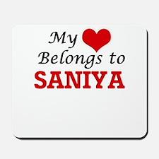 My heart belongs to Saniya Mousepad