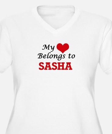 My heart belongs to Sasha Plus Size T-Shirt