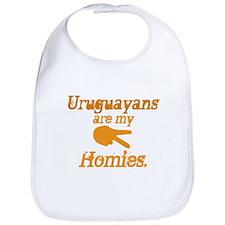Cute Uruguay map Bib