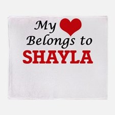 My heart belongs to Shayla Throw Blanket