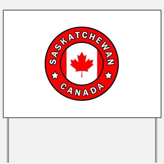 Saskatchewan Canada Yard Sign