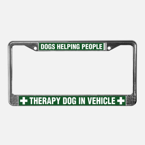 Therapy Dog License Plate Frame