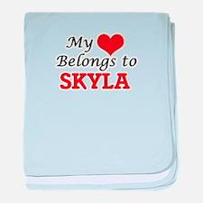 My heart belongs to Skyla baby blanket