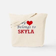 My heart belongs to Skyla Tote Bag