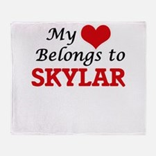 My heart belongs to Skylar Throw Blanket