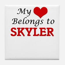 My heart belongs to Skyler Tile Coaster