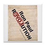 Ron Paul Constitution Tile Coaster