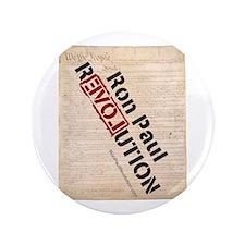 """Ron Paul Constitution 3.5"""" Button"""