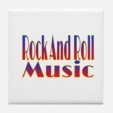 Rock And Roll Music Tile Coaster