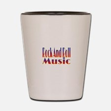 Rock And Roll Music Shot Glass