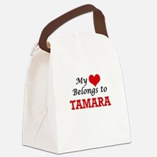 My heart belongs to Tamara Canvas Lunch Bag