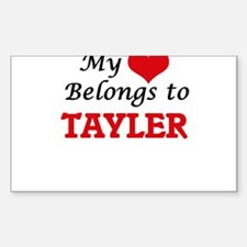 My heart belongs to Tayler Decal