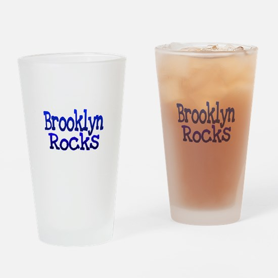 Brooklyn Rocks Drinking Glass