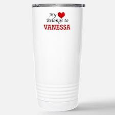 My heart belongs to Van Stainless Steel Travel Mug