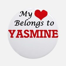 My heart belongs to Yasmine Round Ornament