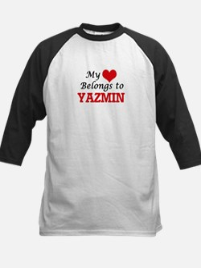 My heart belongs to Yazmin Baseball Jersey
