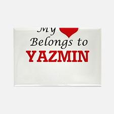 My heart belongs to Yazmin Magnets