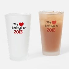 My heart belongs to Zoie Drinking Glass