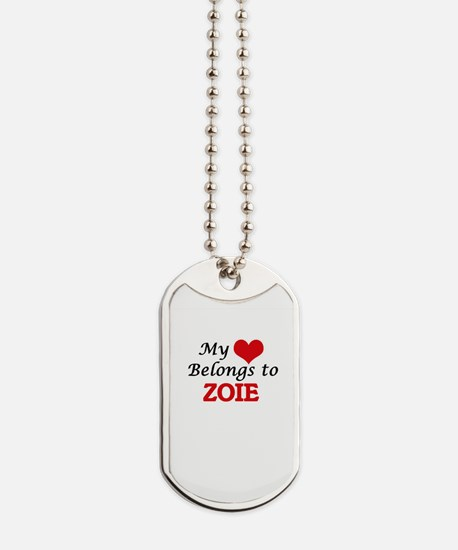 My heart belongs to Zoie Dog Tags
