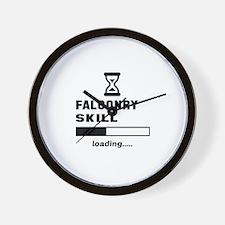 Falconry Skill Loading.... Wall Clock