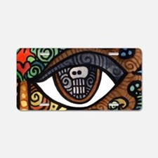 Skull Eye Aluminum License Plate