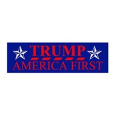 Trump America First Wall Decal