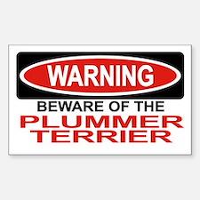 PLUMMER TERRIER Rectangle Decal