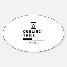 Curling Skill Loading.... Sticker (Oval)