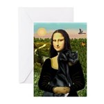 Mona / Gr Dane (bl) Greeting Cards (Pk of 10)