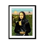 Mona / Gr Dane (bl) Framed Panel Print
