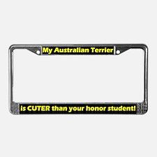 Hnr Student Australian Terrier License Plate Frame