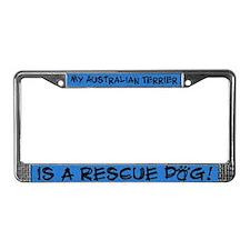 Rescue Dog Australian Terrier License Plate Frame