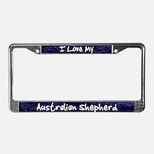 Funky Love Australian Shepherd License Plate Frame
