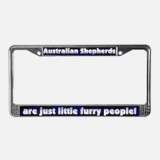 Furry Ppl Australian Shepherd License Plate Frame