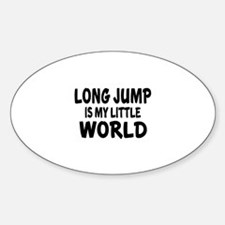 Long Jump Is My little World Decal