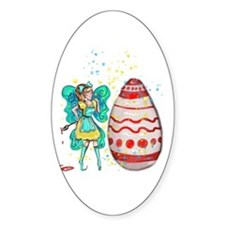Eloiny The Easter Fairy Sticker (oval)