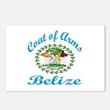 Coats of Arms Belize Postcards (Package of 8)