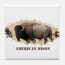 American Bison Tile Coaster