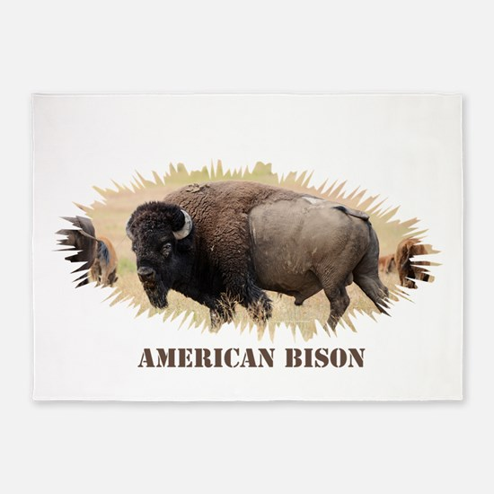 American Bison 5'x7'Area Rug