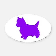 Cairn Terrier Purple 2 Oval Car Magnet